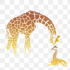 Giraffe Family Icon - Giraffe Mother's Day Infant PNG