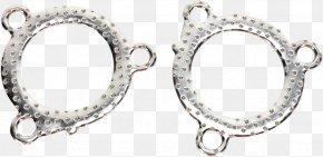 Silver - Earring Silver Body Jewellery PNG