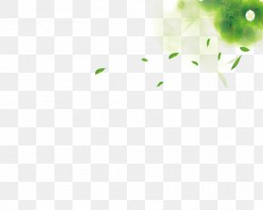 Hand-painted Wind Blowing Green Leaves - Green Leaf Wind Gratis PNG