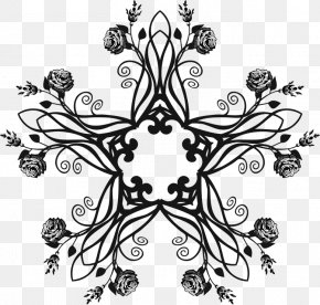 Abstract Flower - Black And White Visual Arts Clip Art PNG