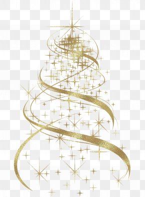 Transparent Golden Christmas Tree Decoration Clipart - Christmas Tree Christmas Decoration PNG