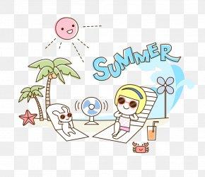 Creative Summer Beach - Beach Resort Illustration PNG