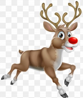 Transparent Christmas Rudolph PNG Clipart - Rudolph Santa Claus's Reindeer Santa Claus's Reindeer PNG