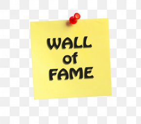 Wall Of Fame - Post-it Note Logo Brand Rectangle Font PNG