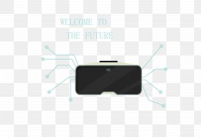 Vector Black VR Technology Glasses - Brand Gadget Pattern PNG