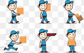 Vector Courier Delivery Boy - Delivery Clip Art PNG