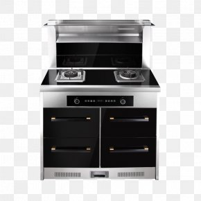 Intelligent Integrated Kitchen - Gas Stove Kitchen Stove Oven Small Appliance Drawer PNG