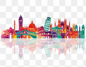 Colorful City Silhouette - Italy Skyline Royalty-free Drawing PNG