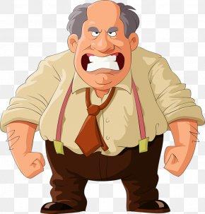 Angry Bald Teeth - Stock Illustration Cartoon Illustration PNG