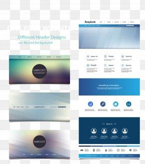 Vector Web Design Renderings - Web Design Web Page Website Web Template System PNG