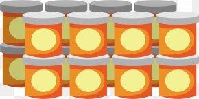 Orange Jar - Cylinder Pattern PNG