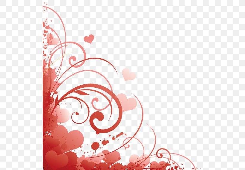 Love Corner Decoration, PNG, 567x568px, Valentine S Day, Flower, Greeting Note Cards, Heart, Illustration Download Free