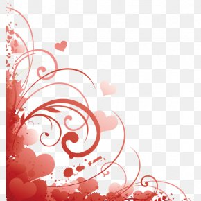 Love Corner Decoration PNG