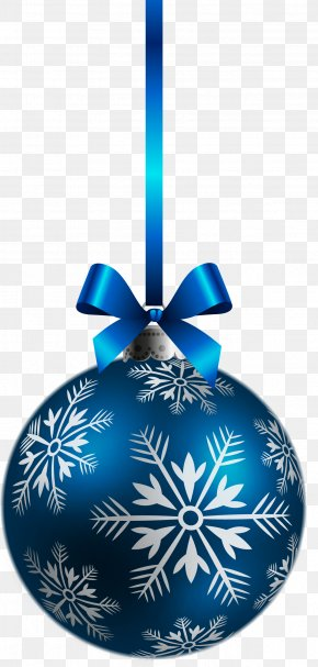Large Transparent Blue Christmas Ball Ornament Clipart - Christmas Ornament Christmas Decoration Clip Art PNG
