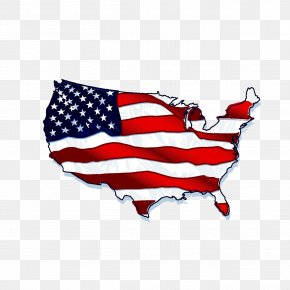 American Flag Map - Flag Of The United States Shape PNG