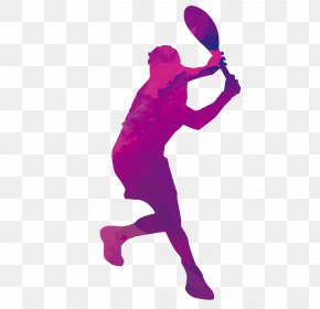 Silhouette Tennis - Tennis Sport Forehand Clip Art PNG