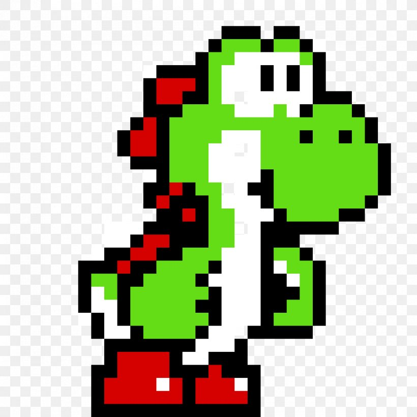 Yoshis Island Super Mario World Minecraft Pixel Art Png