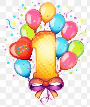 1 Birthday - Birthday Cake Clip Art PNG