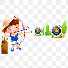 Archery - Child Cartoon Illustration PNG