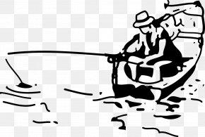 Fishing - Fishing Line Drawing Clip Art PNG