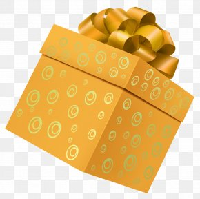 Yellow Gift Box Picture Clipart - Gift Box Clip Art PNG