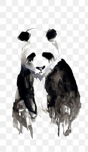 Drawing Panda - Giant Panda Watercolor Painting Oogway Drawing Art PNG
