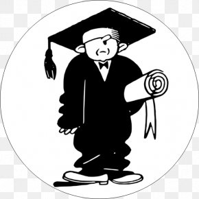 Student Clip Art Black And White - Graduation Ceremony Square Academic Cap Academic Degree Graduate University Diploma PNG