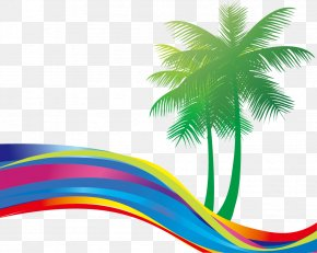 Great Fresh Coconut Colorful Colorful Curve - Summer Beach PNG