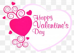 Happy Valentines Pink Heart Decor PNG Picture - Valentine's Day Greeting Card Wish Heart PNG