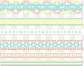 Flat Ribbon Cute Decorative Frame - Paper Green Area Pattern PNG