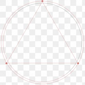 Red Simple Circle Triangle Border Texture - Circle Triangle PNG