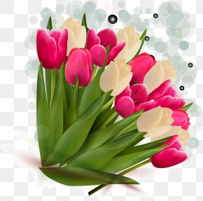 Vector Tulip 39 - Tulip Flower Bouquet Clip Art PNG