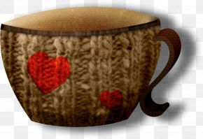 Brown Creative Cup - Cup Knitting Pattern Glass PNG