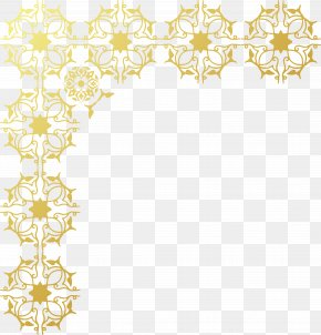 Gold Frame - Gold Chinoiserie Wallpaper PNG