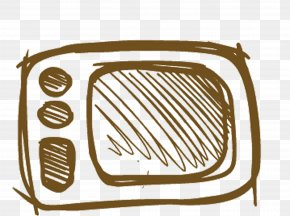 Hand-painted Microwave - Microwave Oven Clip Art PNG