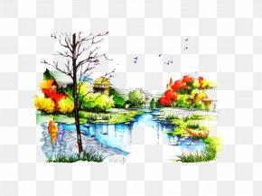 River - Landscape Architecture Garden Graph PNG