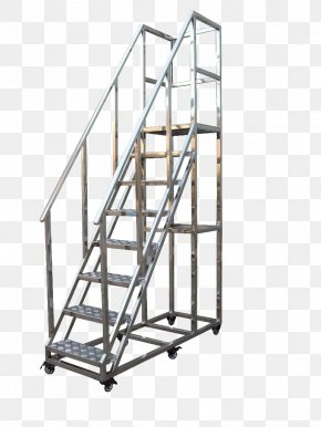 Ordinary Ladders Stainless Steel - Stairs Ladder Steel Elevator Aluminium PNG