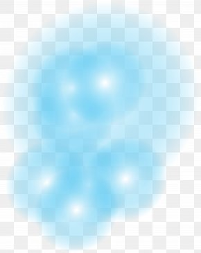 Blue Glow Effect Element - Blue Sky Circle Pattern PNG