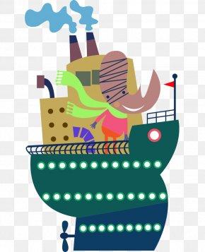 Free Ship Animation Vector Material - Dengiz Transporti Drawing Ship PNG