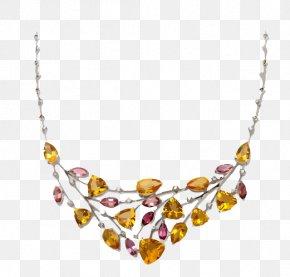 Yellow Gemstone Jewelry Necklace - Necklace Gemstone Jewellery PNG