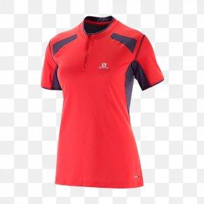 SALOMON / Salomon Women T-shirt - T-shirt Polo Shirt Sleeve Clothing PNG