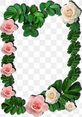 Green Frame - Paper Picture Frames Molding Flower PNG