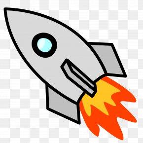 Vintage Spaceship Cliparts - Rocket Spacecraft Clip Art PNG