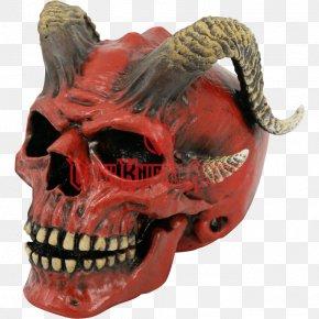 Skull Devil - Skull Calavera Bone Horn Demon PNG