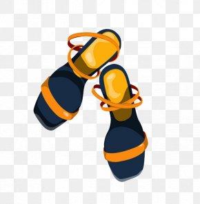 Great Popular Trend Blue Sandals - Slipper Shoe Sandal PNG