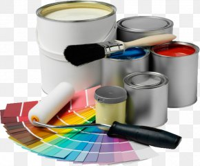 Hand-painted Material - House Painter And Decorator Painting Interior Design Services Building PNG