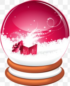 Red Concise Glass Ball - Santa Claus Christmas Snow Globes Illustration PNG