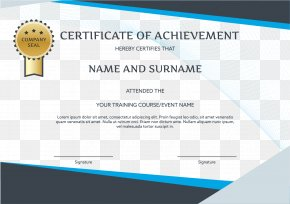 English Certificate Template - Graduation Ceremony Brand Party PNG