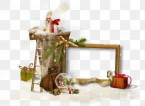 Christmas Decoration Frame Material - Santa Claus Christmas Clip Art PNG