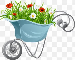 Flower - Wheelbarrow Flower Clip Art PNG